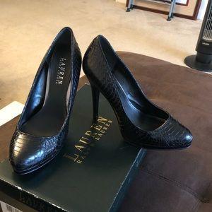Ralph Lauren Snake 7.5 High Heels
